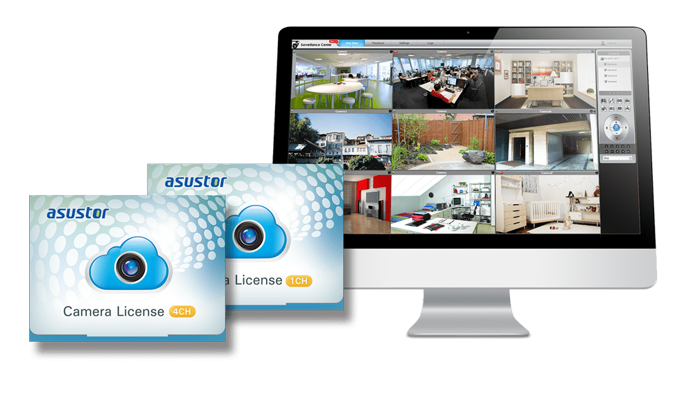 Asustor NAS 華芸 Camera expansion with add-on licenses