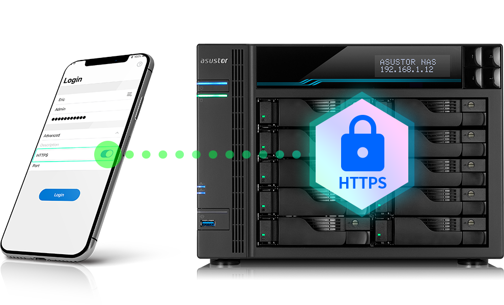Asustor NAS 華芸 HTTPS Protects Your Data