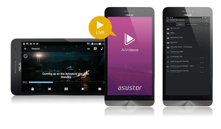 Asustor NAS 華芸 Digital TV on the go