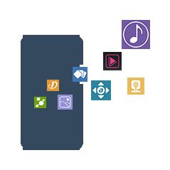 Aplicativos móveis: 8 aplicativos móveis diferentes para acesso conveniente ao NAS em movimento. O AiMaster fornece função exclusiva de inicialização, permitindo que você configure seu NAS sem um computador.
