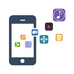 Mobile Apps: 八款 Mobile Apps 遠端登入,提供用戶與 NAS近距離接觸,融在一起。AiMaster 獨家提供安裝精靈,一氣呵成落實無電腦使用體驗。