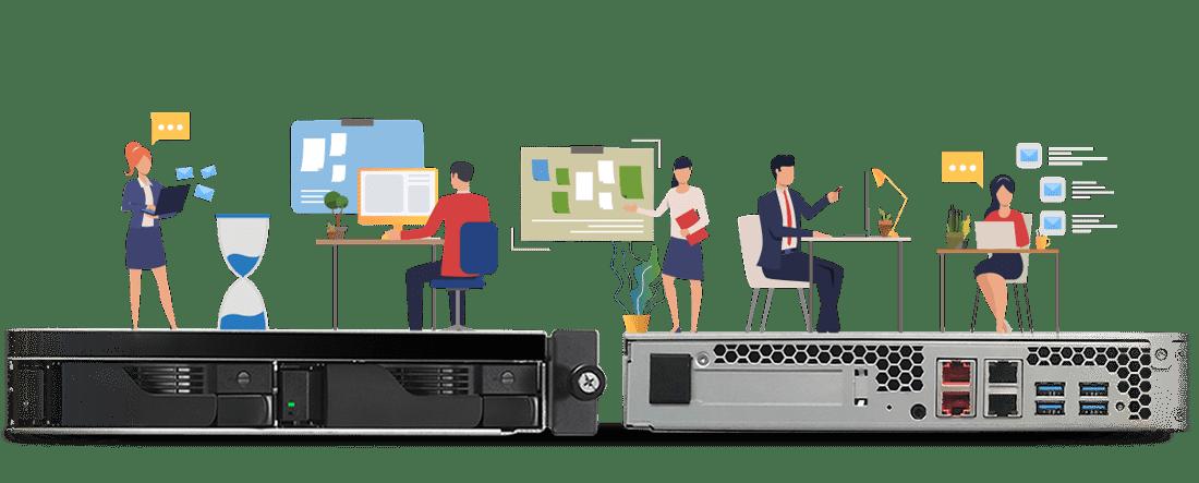 가격 대비 고효율 2.5GbE 1U 렉마운트 서버