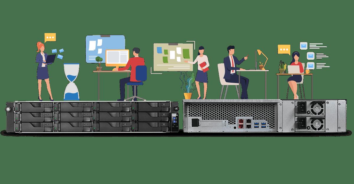 가격 대비 고효율 2.5GbE 2U 렉마운트 서버