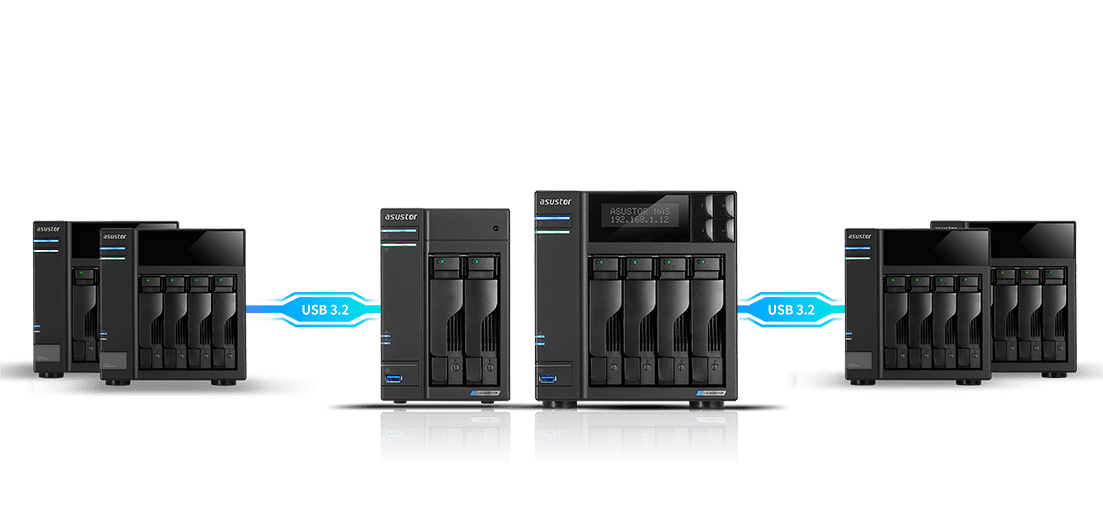 Four Bays with Two M.2 SSD Slots for Flexible Cached Storage