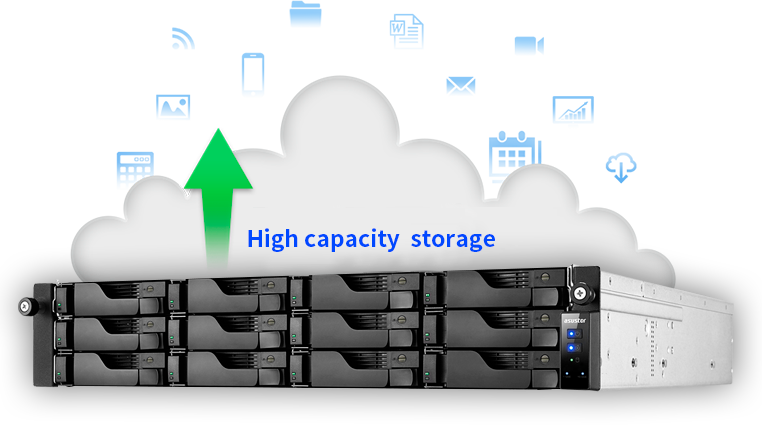 High capacity cloud storage for all your digital assets