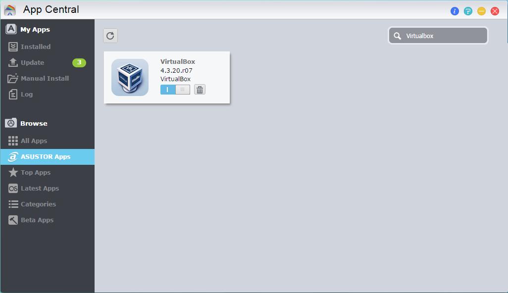 Virtual Machine Configuration with VirtualBox - ASUSTOR NAS