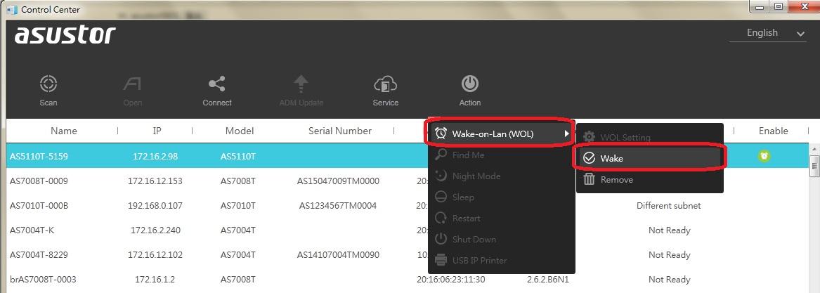 Wake-on-LAN (WOL) - ASUSTOR NAS