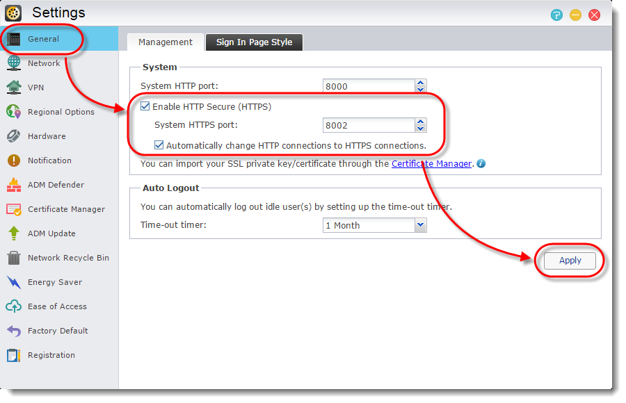 Using HTTPS to Secure NAS Communication(English Only) - ASUSTOR NAS
