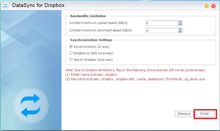 dropbox download speed