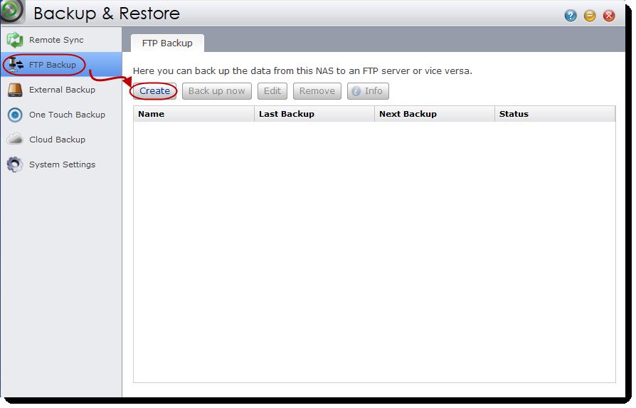 FTP Backup - ASUSTOR NAS