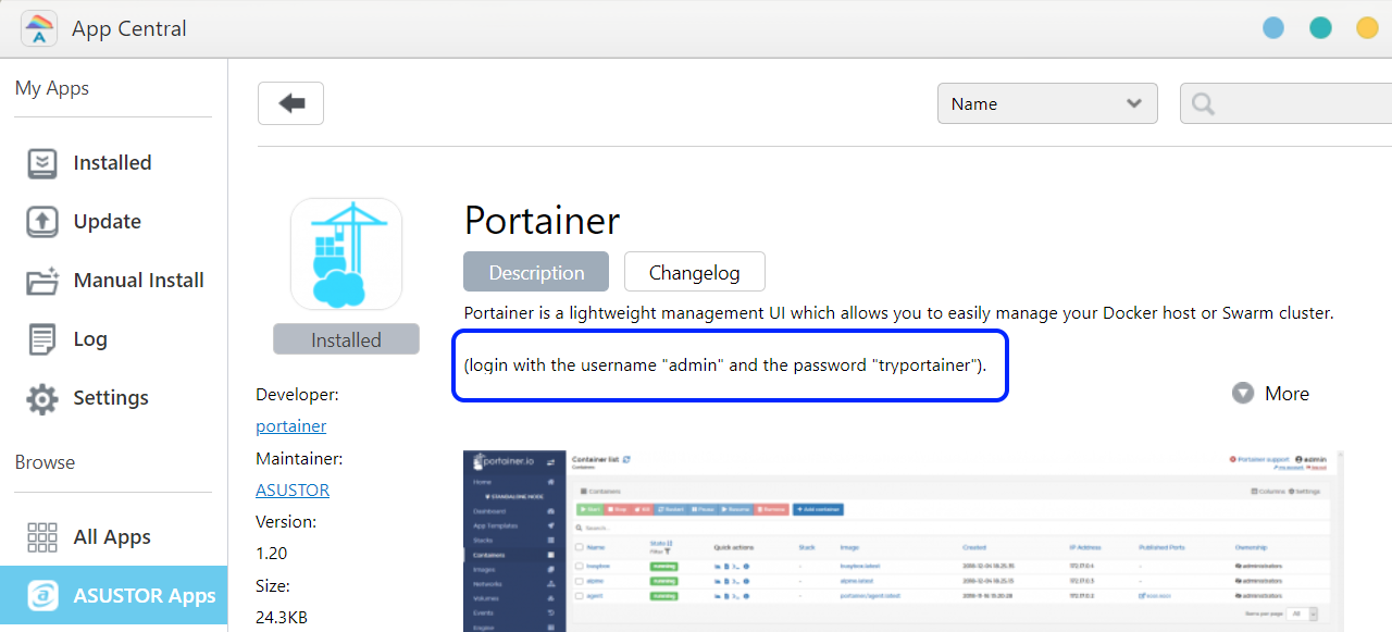 Introducing Portainer - ASUSTOR NAS