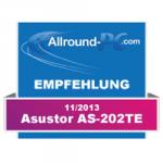Empfehlung Award asustor NAS