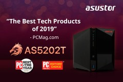 華芸科技AS5202T獲得美國權威科技媒體PC Magazine評選為 「2019 年度最佳科技產品」 asustor NAS