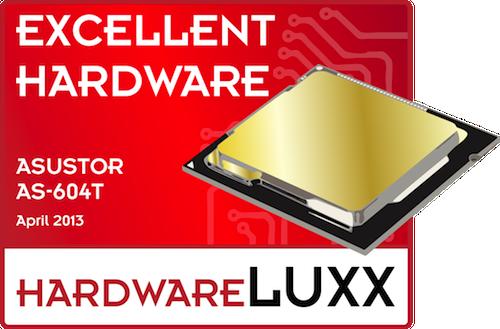 Excellent Hardware Award asustor NAS