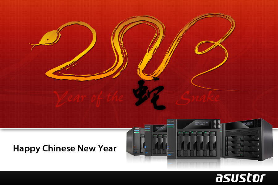 asustor news nas Chinese New Year National Holidays from February 9th - 17th, 2013.