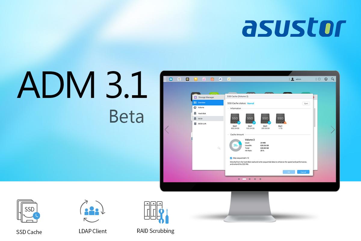 ASUSTOR ADM 3.1 beta