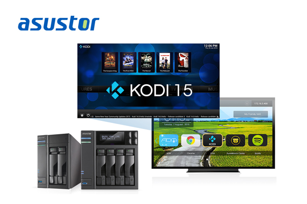 ASUSTOR supports Kodi15