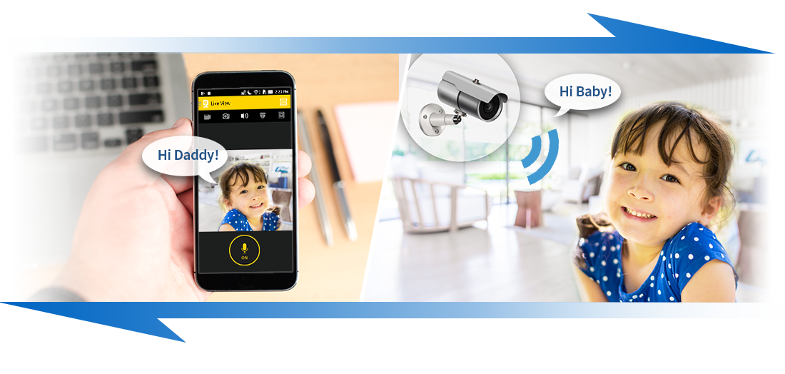 AiSecure는 휴대전화의 양방향 음성 통신을 지원합니다.