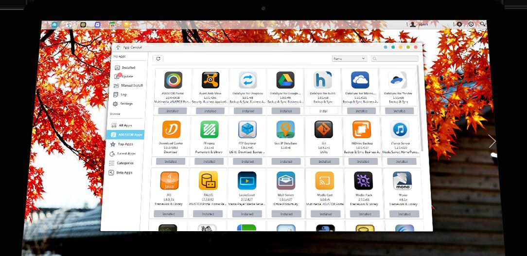Asustor NAS App Central