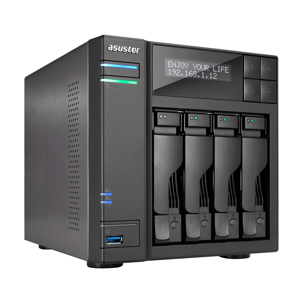 AS6404T | A comprehensive 4 bay NAS equipped with an Intel